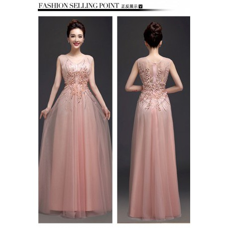 2016 New Arrival Bride Seashell Pink Evening Gown