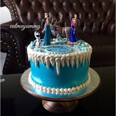 Frozen Theme Birthday Cake FB