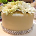 Yellow Fondant Wedding Cake
