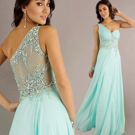 Green Toga Evening Gown
