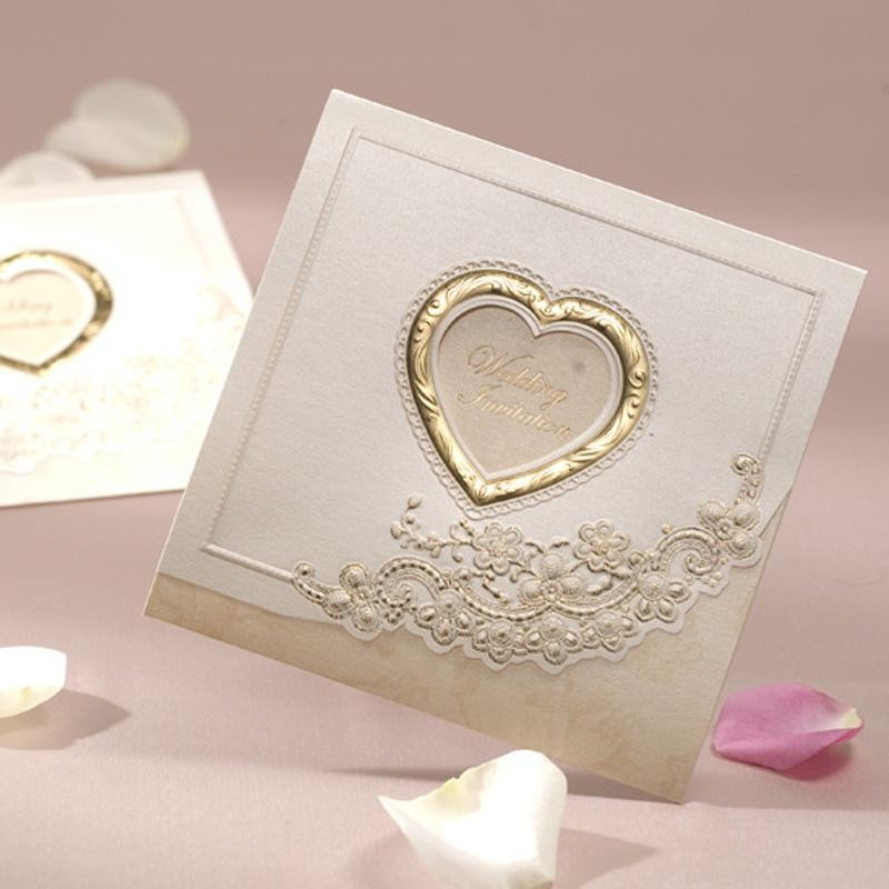 Heart Shape Wedding Invitation Card | Gifts & Cards