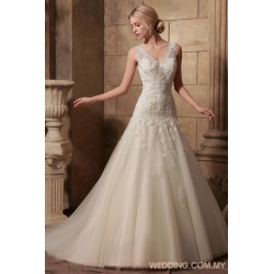 Tulle Wedding Dress With Lace Appliques