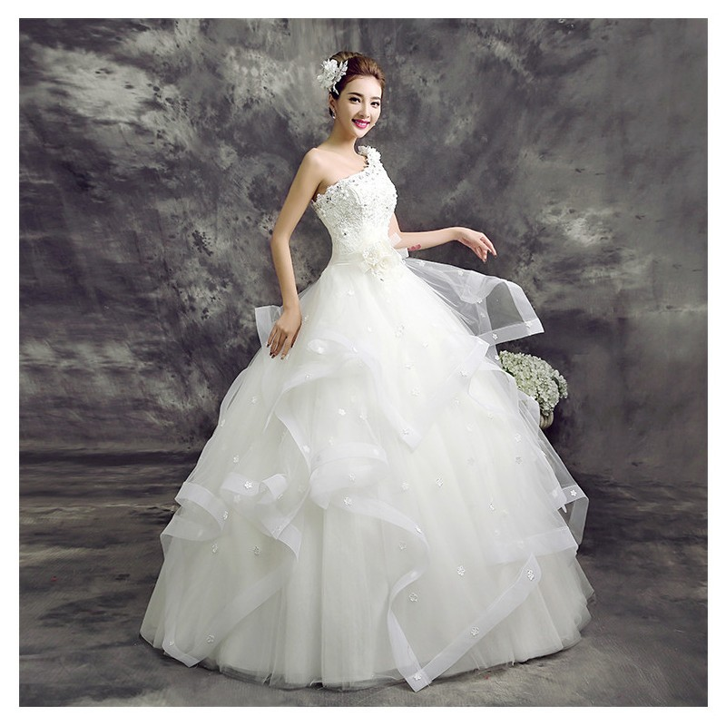 New 2017 Korean Fashion Toga Style Wedding Dress Fashion