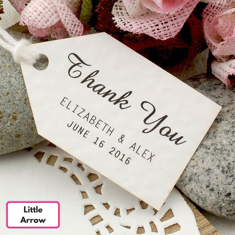 Wedding Thank You Gift Tags: Personalized White Wedding Favor / Thank You / Gift Tags