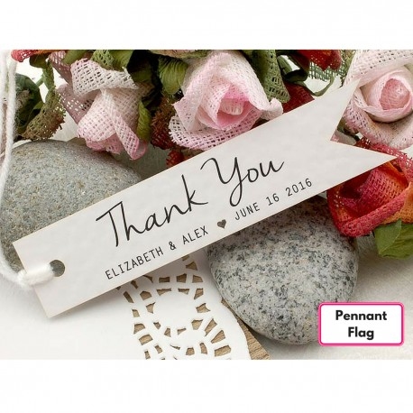 Personalized White Wedding Favor / Thank You / Gift Tags with Twine ( Set B - 4 Designs )