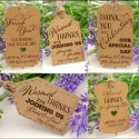 Personalized Kraft Wedding Favor Gift Tags with Twine ( Set A - 4 Designs )