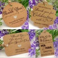 Personalized Kraft Wedding Favor Gift Tags with Twine ( Set B - 4 ...