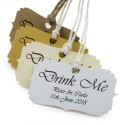 Personalized 'Drink Me' Gift Tags (4 Card Types)