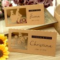 Personalized Laser Cut Natural Brown Kraft Wedding Place Cards - Our Love Story