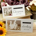 Personalized Laser Cut White Wedding Place Cards - Our Love Story