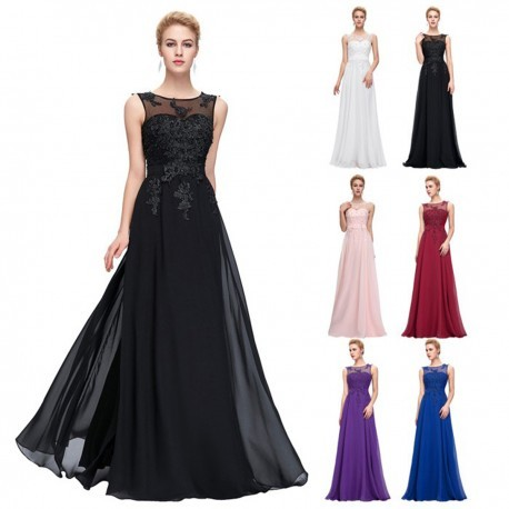 Classic Floral Sequined A-Line Evening Gown - Plus Sized (8 Colors)
