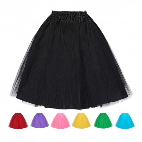 Retro 3 Layers Petticoat Underskirt (8 Colors)