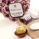 "DIY Personalized Double Sided White Cupcake Toppers ""For"""