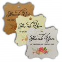 Elegant Square Thank You Gift Tags with Floral Print 2 (3 Colors)