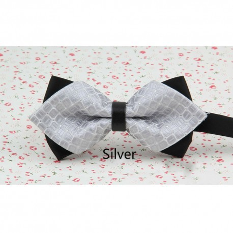 Korean Style Groom's Plaids Sharp-Edge Bow Tie