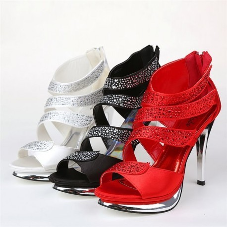 Luxury Europe Style Bridal Stud Heels