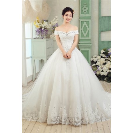 2016 New Arrival Vintage Lace & Diamante Wedding Dress