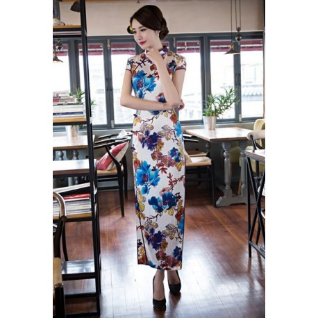 2016 New Arrival Chinese Traditional Long Cheongsam