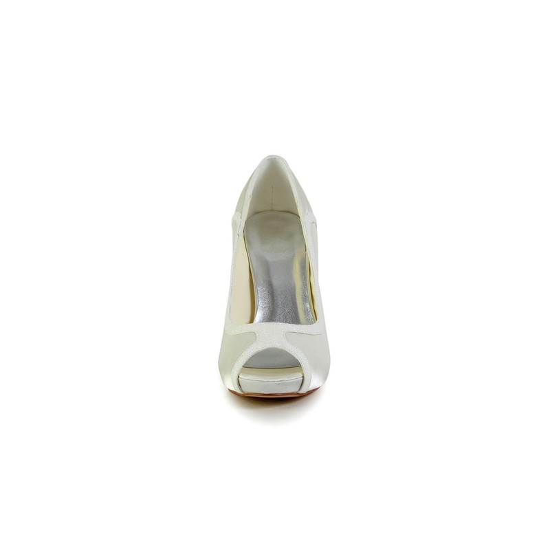 Basic peep toe wedding shoes bridal shoes - My peep toes ...