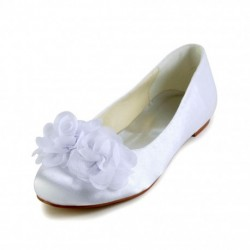 Zofia Flower Flat Bridal Shoes
