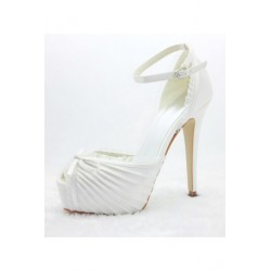 Alana Peep-Toe Wedding Shoes