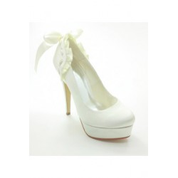 Saffiano Platform Heel Wedding Shoes