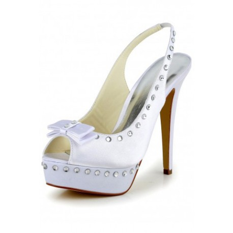 Pattie Peep-Toe Wedding Shoes