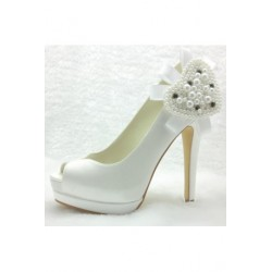 Rodine Peep-Toe Wedding Shoes