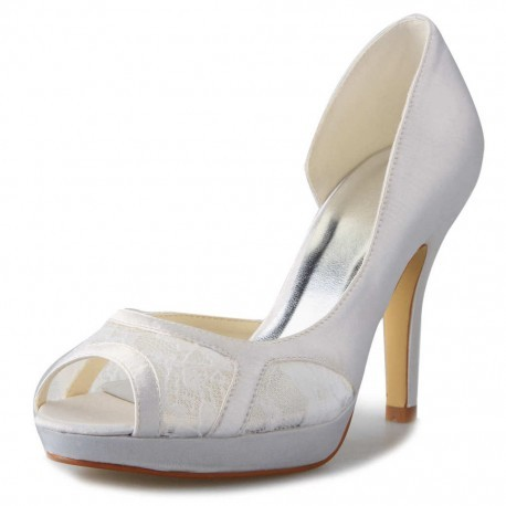 Freesia Peep-Toe Wedding Shoes