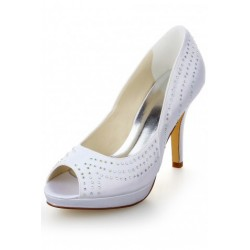 Jalieza Peep-Toe Wedding Shoes