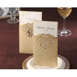 Envelop Style Laser Cut Wedding Invitation Card