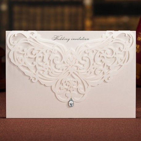 Chandelier Laser Cut Wedding Invitation Card