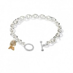 Ocean Fish Swarovski Elements Charm Bracelet in 18K White Gold Plated