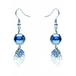 Leafy Swarosvki Hook Pearl Earring Crafted by Angie