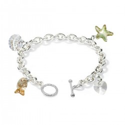 Lenna Charm Pearl Bracelet Gift Set Crafted by Angie (Complimentary Additional Chain Bracelet)