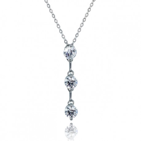 Kelvin Gems Premium Past Present Future Pendant Necklace