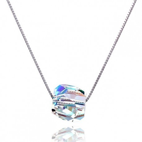 Kelvin Gems Glam Disco Ball Pendant Necklace m/w SWAROVSKI Elements