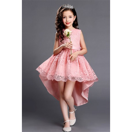 Pretty Lace Hi-Low Lace Flower Girl Evening Gown