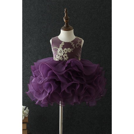 Cutie and Chic Sleeveless Tutu Evening Gown Dress Purple