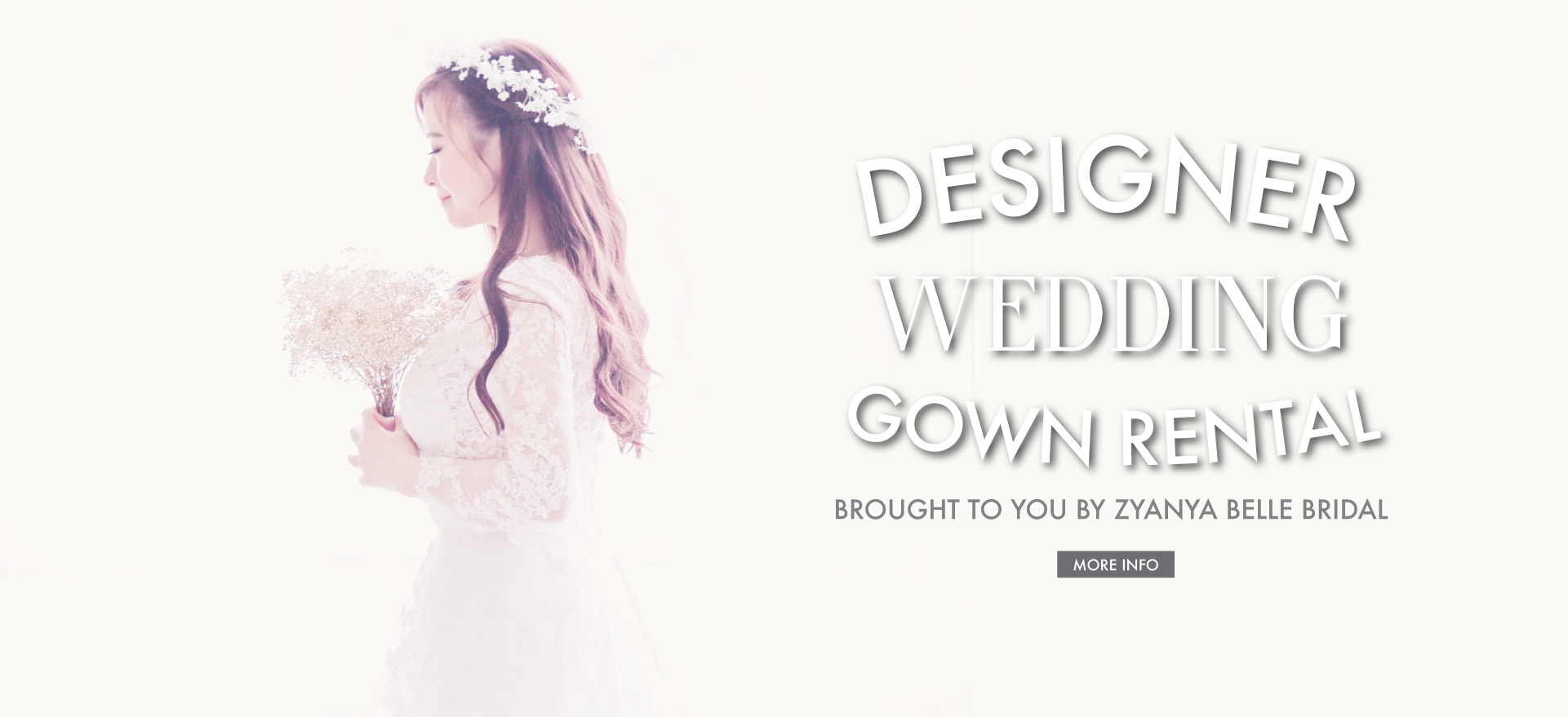 Designer Wedding Gown Rental Campaign Brought to you by Zyanya Belle Bridal