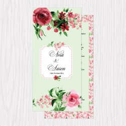 Spring Watercolor Printed Flat Cards - 100 pcs (3 Colors)