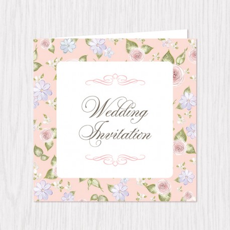 Spring Pastel Folded Cards - 100 pcs (3 Colors)